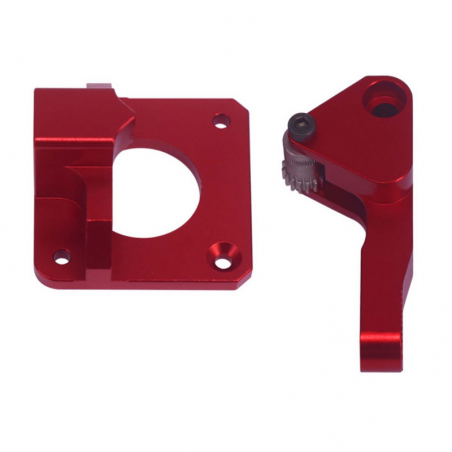 Kit extrusor metal compatible Creality color rojo