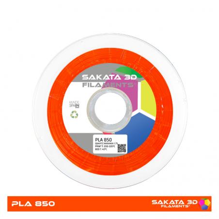 PLA Sakata 850 Orange fluor. Filamento 3D 1.75 mm. 1Kg.