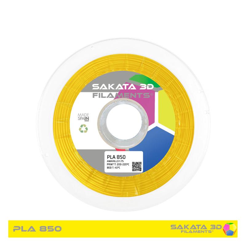 PLA Sakata 850 Yellow. Filamento 3D 1.75 mm. 1Kg.