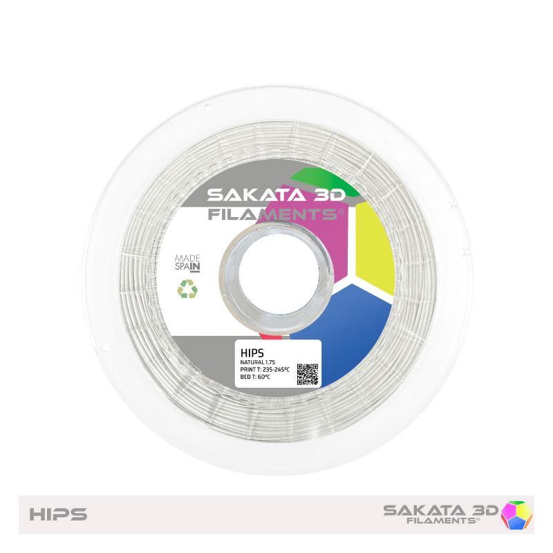 HIPS Sakata Natural White. Filamento 3D 1.75 mm. 1Kg.