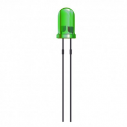 Lote 100 diodos led 5 mm verde