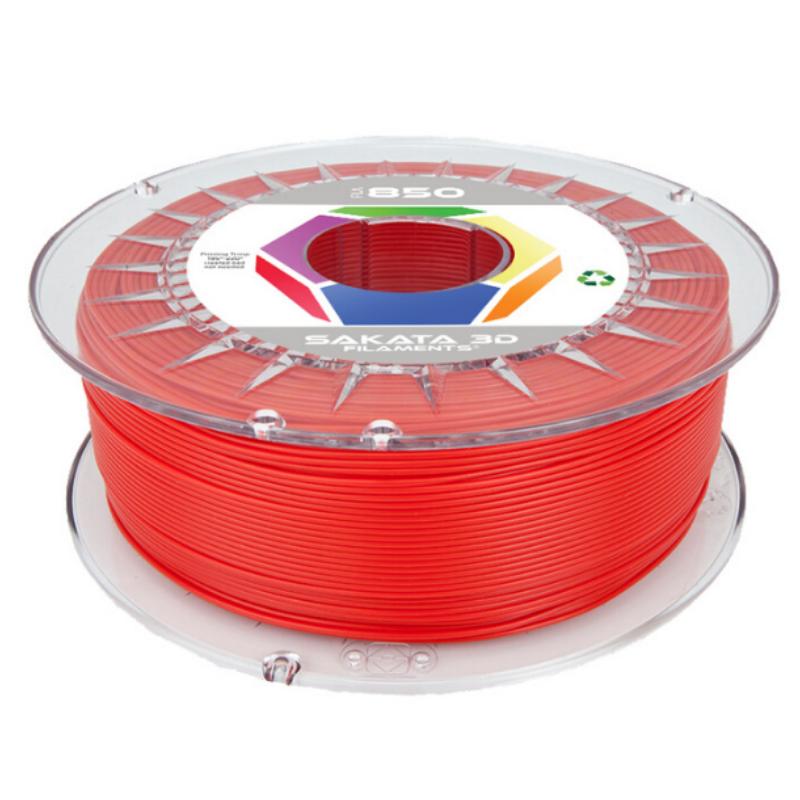PLA Sakata 850 Red. Filamento 1.75 mm. 1Kg.